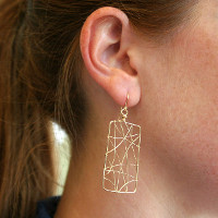 Rectangular Get Wired earrings from Nicholas Lane