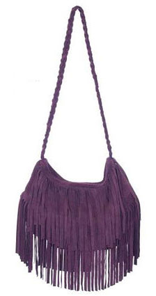 JJ Winters Fringe Suede Bag Ashley Tisdale