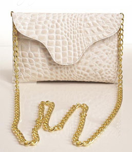 JJ Winters 257 in bone croco cross body bag