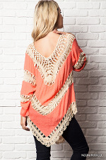 Crochet Tunic in Mango