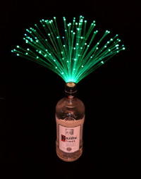 Fiber optic bottle decorations