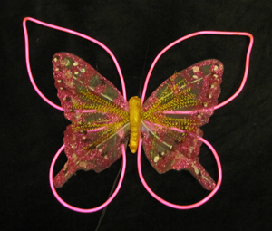 Glowing butterfly body decoration
