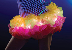 Rainbow colored light up Tutu from J Valentine