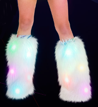 Light up fur leg warmers/boot covers