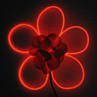 5 Petal EL Wire Flower Red