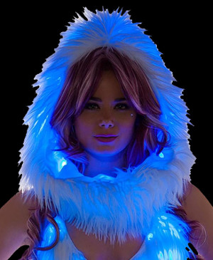 Faux Fur Light Up Hood from J Valentine