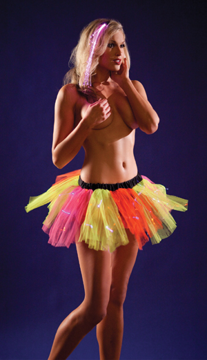 Rainbow Petticoat with multi colored light up fibers