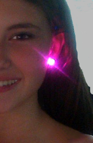 Glowing Earrings with replaceable batteries