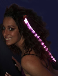 Rave Wear Fiber Optics in Pink Glowby